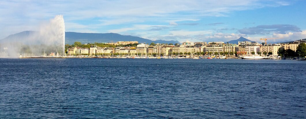Taking in the beautiful mountains, scenery and city life in geneva, switzerland