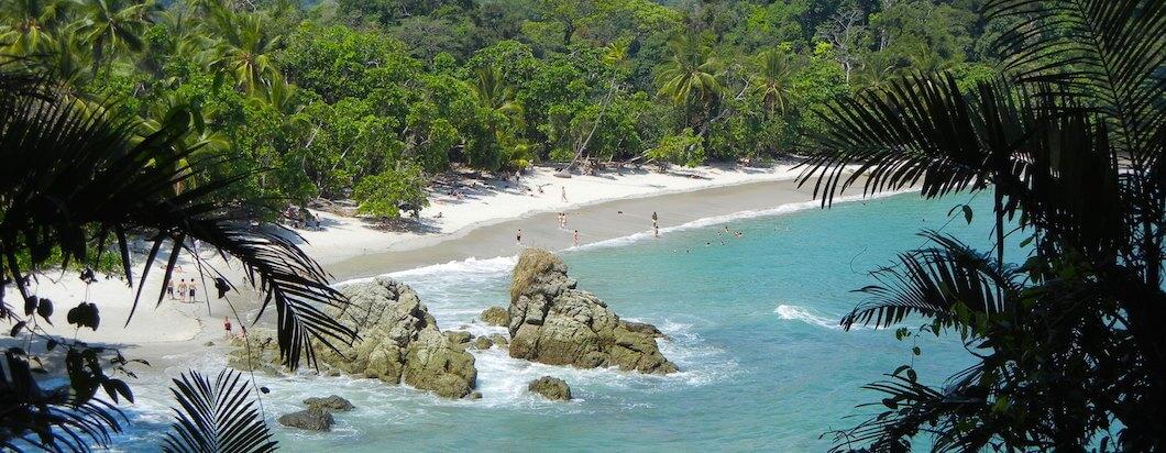 Going through the beautiful beach town of Manuel Antonio in Costa Rica