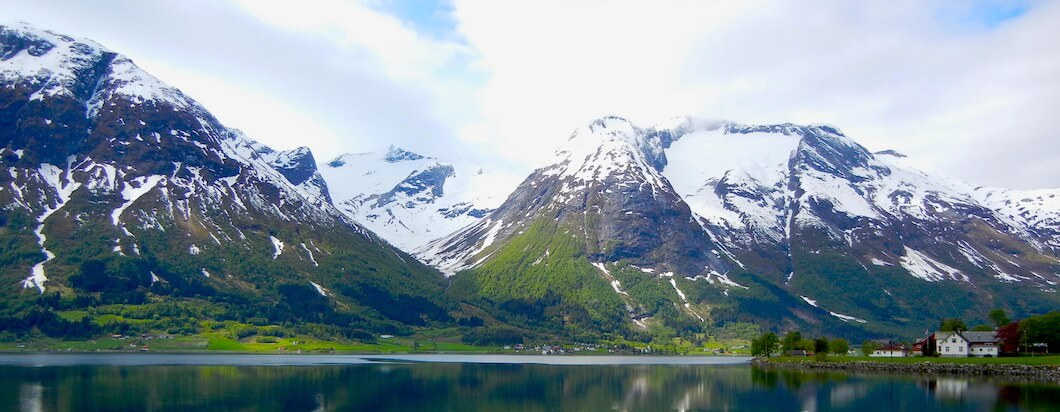 Taking in the beautiful Fjords in northern Norway