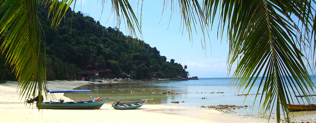 Visiting the beaches of the perhentian islands, Malaysia