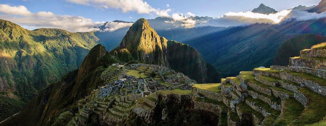 Exploring the ruins of machu picchh in Peru