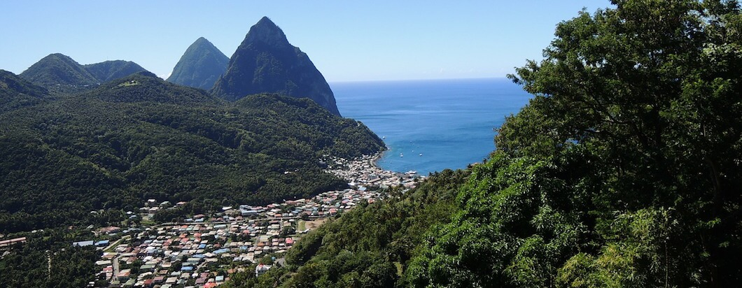 Visiting the beautiful Saint Lucia in the Caribbean
