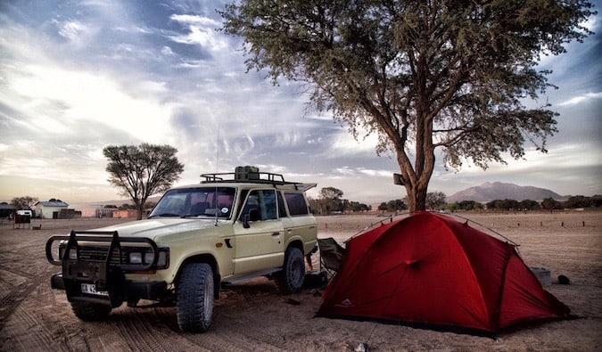 camping in southern Africa