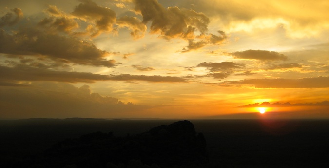 sunset in kakadu national park
