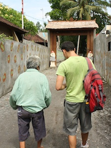 Walking with a local in Bali