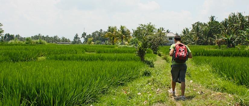 walking through bali