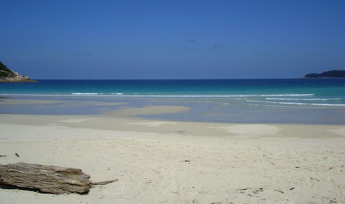An empty beach in the Perhentian Islands