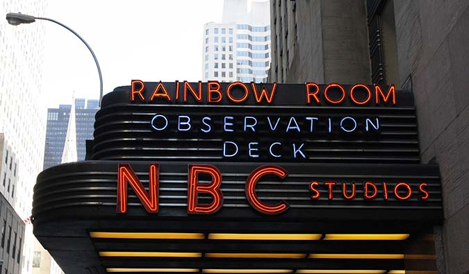A street view of NBC Studios
