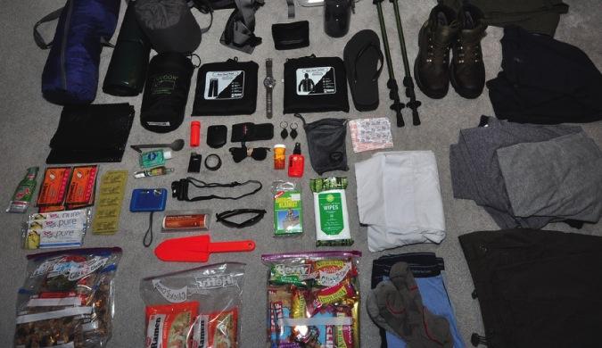 Demasiado equipo para empacar en una mochila.