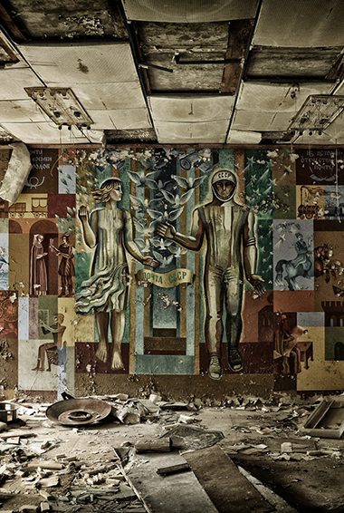 The Chernobyl reactor site in Ukraine