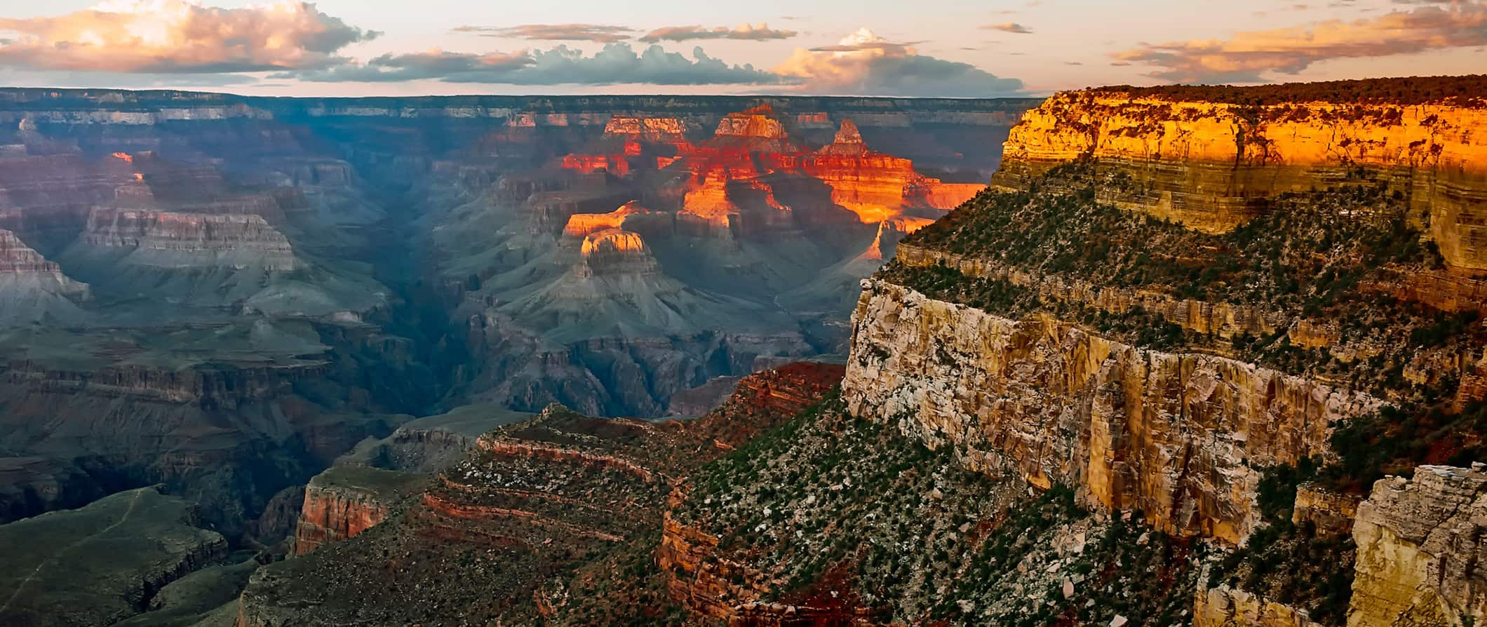 sunset over the Grand Canyon, United States