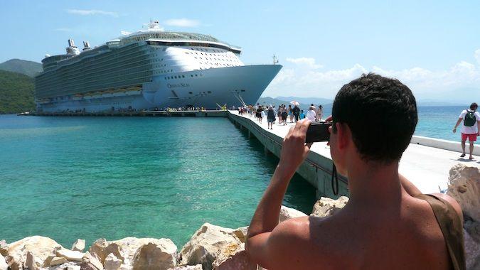 Nomadic Matt on a cruise ship