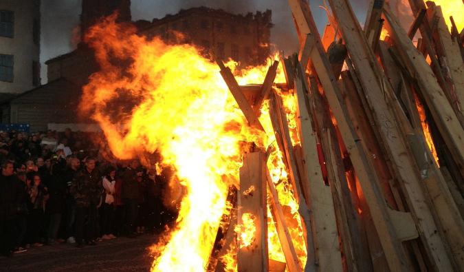 valborg day bonfire