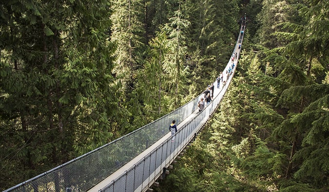 The Capilano Suspension Bridge in British Columbia