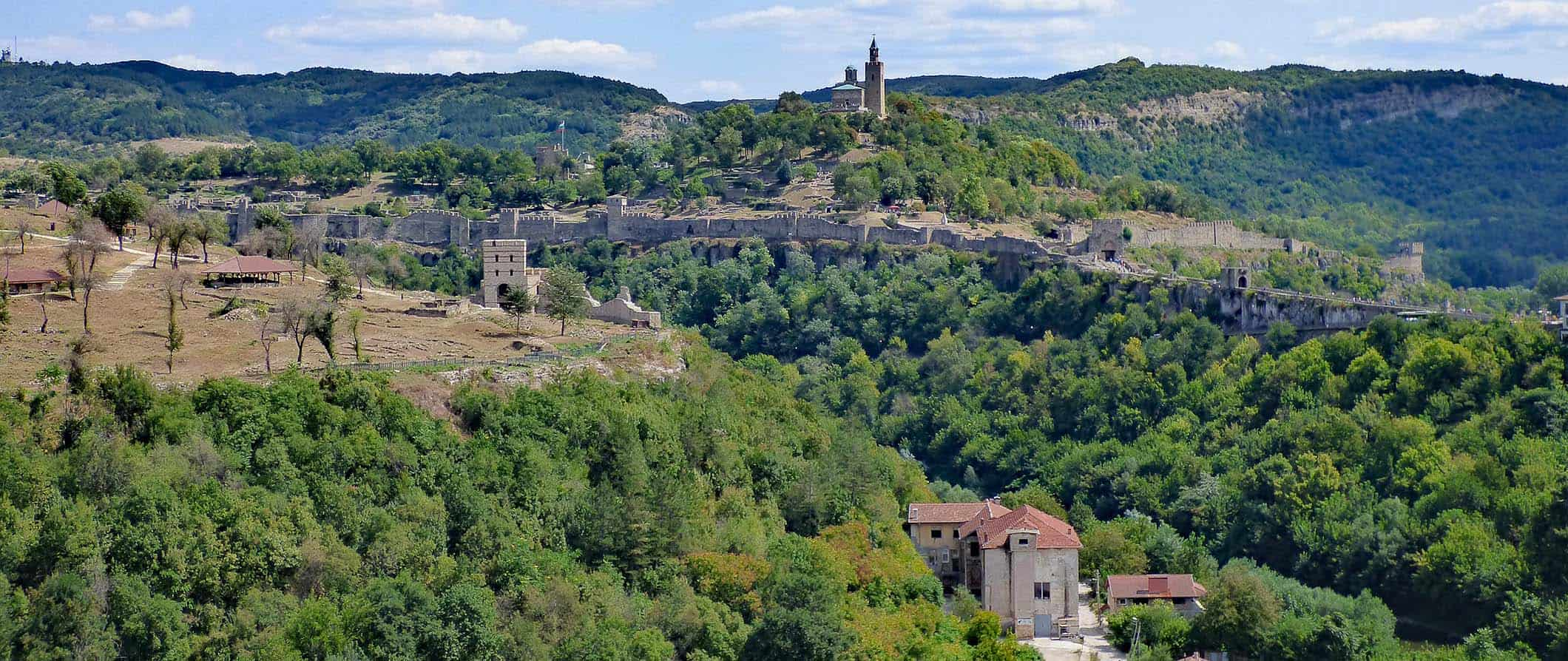 the fortress in veliko tarnovo, bulgaria