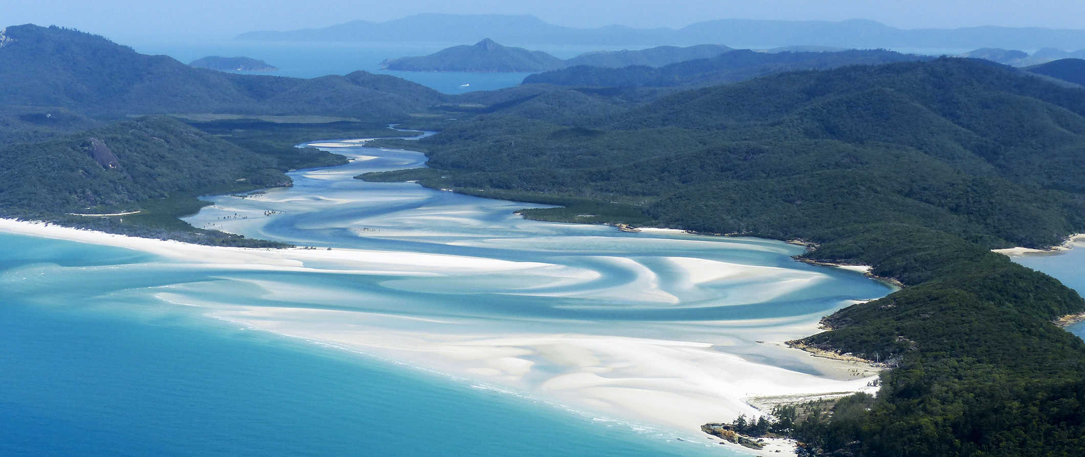 aerial view of the Whitsunday Islands, Australia