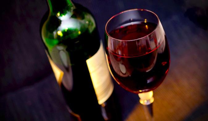 Wine in Argentina's wine region, Mendoza