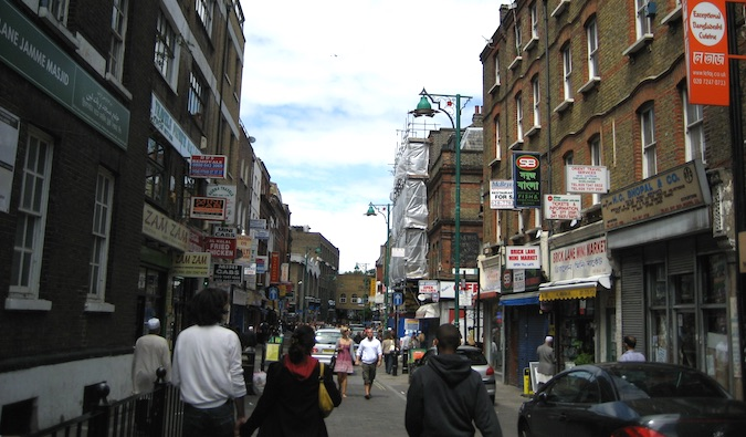 The busy streets of London, England